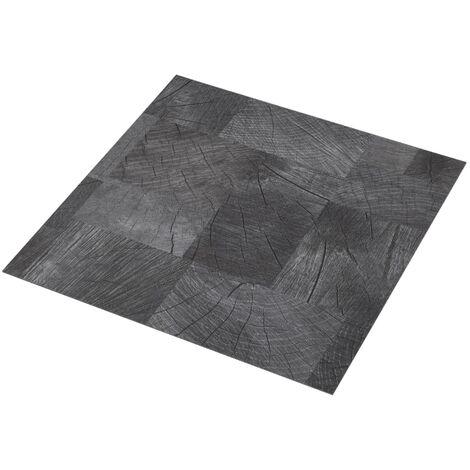 Lama para suelo PVC autoadhesiva gris estructura madera 5,11 m²