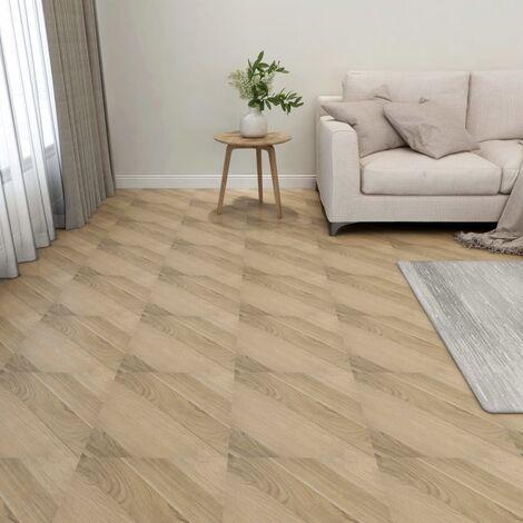 Lamas de suelo autoadhesivas 55 uds PVC 5,11 m² marrón rayas - Marrón