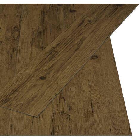 Lamas de suelo PVC autoadhesivas 4,46 m² 3 mm marrón natural