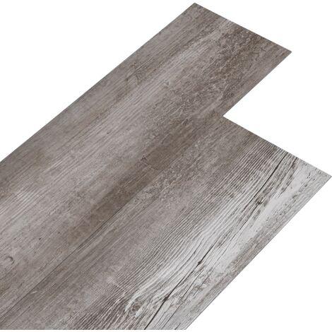 Lamas de suelo PVC autoadhesivas marrón madera mate 5,02m² 2mm