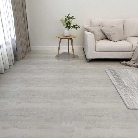 Lamas para suelo autoadhesivas 55 piezas PVC 5,11 m² gris claro - Gris
