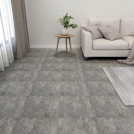 Lamas para suelo autoadhesivas 55 piezas PVC 5,11 m² gris - Gris