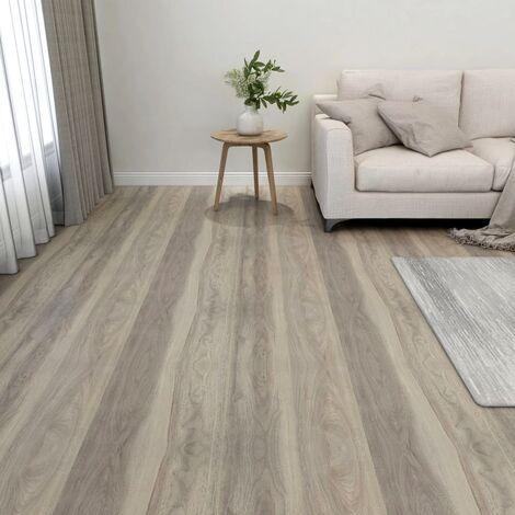 Lamas para suelo autoadhesivas 55 piezas PVC 5,11 m² gris taupe - Gris Topo