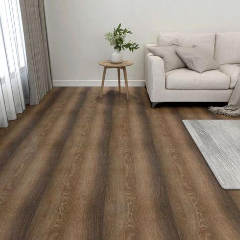 Lamas para suelo autoadhesivas 55 piezas PVC 5,11 m² marrón - Marrón
