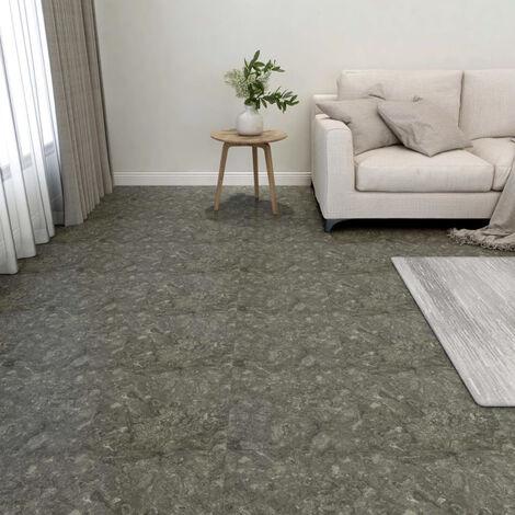 Lamas para suelo autoadhesivas 55 piezas PVC 5,11 m2 gris