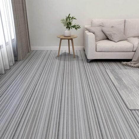Lamas para suelo autoadhesivas 55 piezas PVC 5,11 m2 gris claro