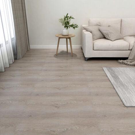 Lamas para suelo autoadhesivas 55 piezas PVC 5,11 m2 gris taupe