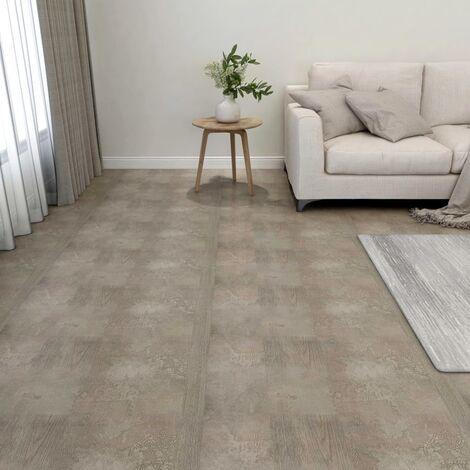 Lamas para suelo autoadhesivas 55 uds PVC 5,11 m² gris - Gris