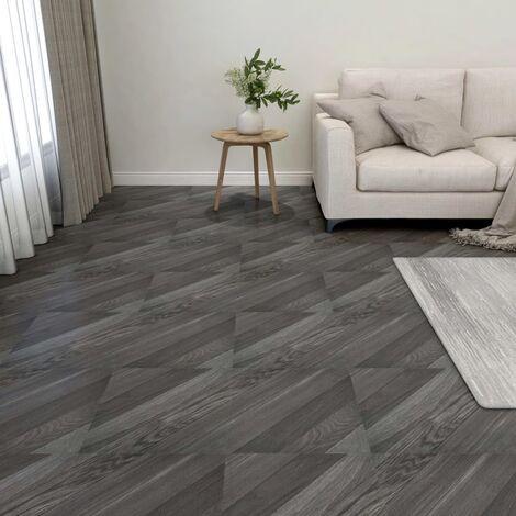 Lamas para suelo autoadhesivas 55 uds PVC 5,11 m² gris rayas - Gris