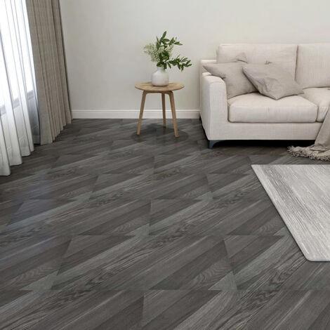 Lamas para suelo autoadhesivas 55 uds PVC 5,11 m2 gris rayas