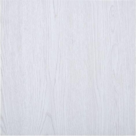 Lamas para suelo autoadhesivas PVC blanco 5,11 m2