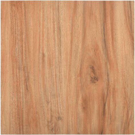 Lamas para suelo autoadhesivas PVC color madera claro 5,11 m²