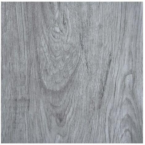 Lamas para suelo autoadhesivas PVC gris claro 5,11 m2