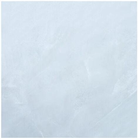Lamas para suelo autoadhesivas PVC marmol blanco 5,11 m2