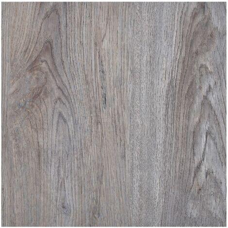 Lamas para suelo autoadhesivas PVC marron claro 5,11 m2