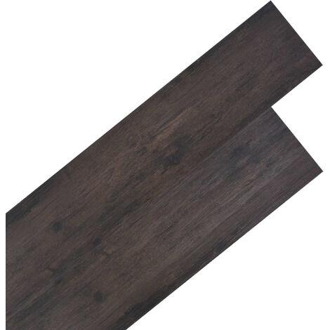 Lamas para suelo de PVC 5,26 m2 2 mm roble gris oscuro