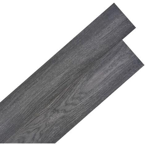Lamas para suelo de PVC autoadhesivas 5,02m² 2mm negro y blanco