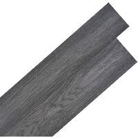 Lamas para suelo de PVC autoadhesivas 5,02m² negro y blanco