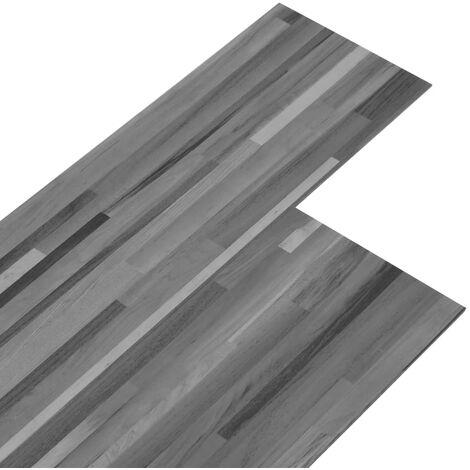 Lamas para suelo de PVC autoadhesivas gris a rayas 5,02 m² 2 mm