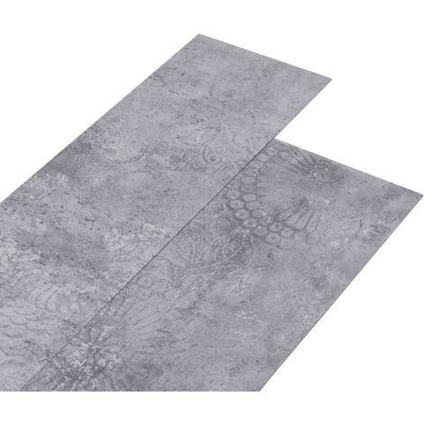Lamas para suelo de PVC autoadhesivas gris cemento 4,46 m² 3 mm