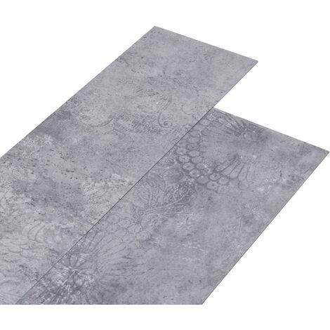 Lamas para suelo de PVC gris cemento 5,26 m² 2 mm