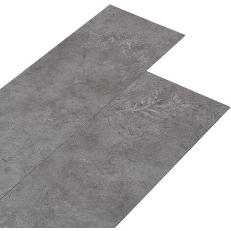 Lamas para suelo de PVC gris hormigón 5,26 m² 2 mm