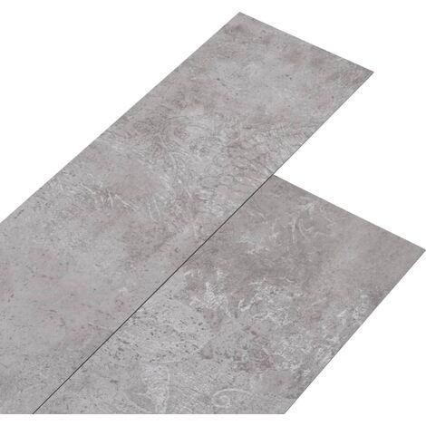 Lamas para suelo de PVC gris tierra 5,26 m² 2 mm