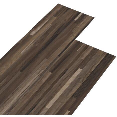Lamas para suelo de PVC marrón a rayas 5,26 m² 2 mm