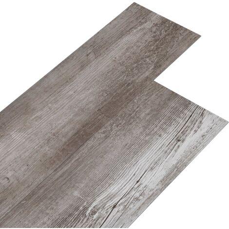 Lamas para suelo de PVC marrón madera mate 5,26 m² 2 mm