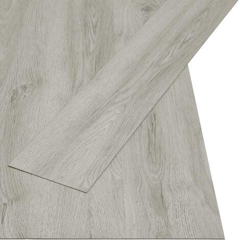Lamas para suelo PVC autoadhesivas 4,46 m² 3 mm gris claro