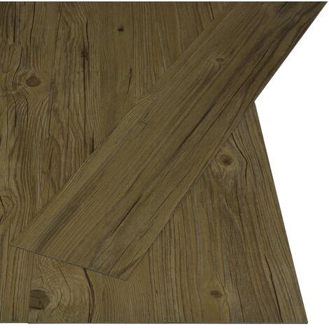 Lamas para suelo PVC autoadhesivas 4,46 m² 3 mm marrón