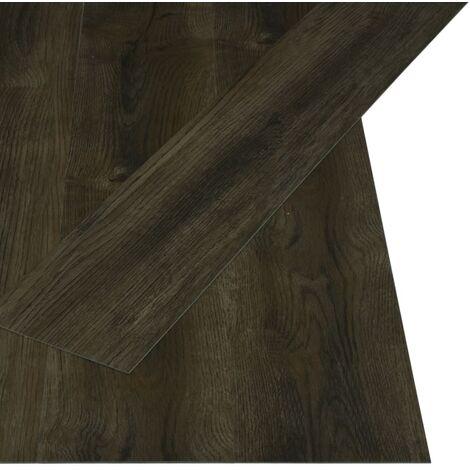 Lamas para suelo PVC autoadhesivas 4,46 m² 3 mm marrón oscuro