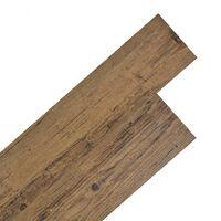 Lamas para suelo PVC autoadhesivas 5,02m² marrón nogal