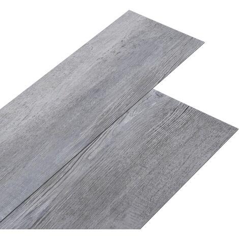 Lamas para suelo PVC autoadhesivas gris madera mate 5,02m² 2mm