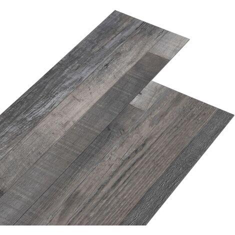 Lamas para suelo PVC autoadhesivas madera industrial 4,46m² 3mm