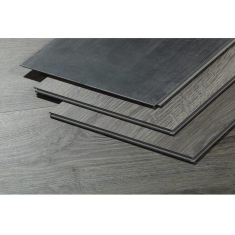 Lamas para suelo PVC en Clic 5G - 11m² - 5 mm - Gris oscuro