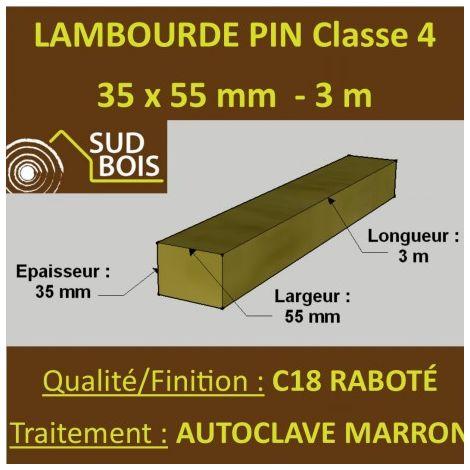 Lambourde 35x55mm Pin Autoclave Marron Classe 4 3m