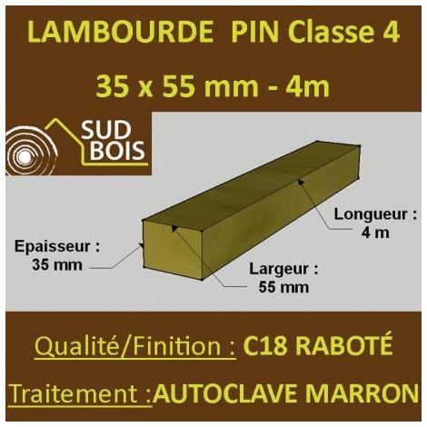 Lambourde 35x55mm Pin Autoclave Marron Classe 4 4m