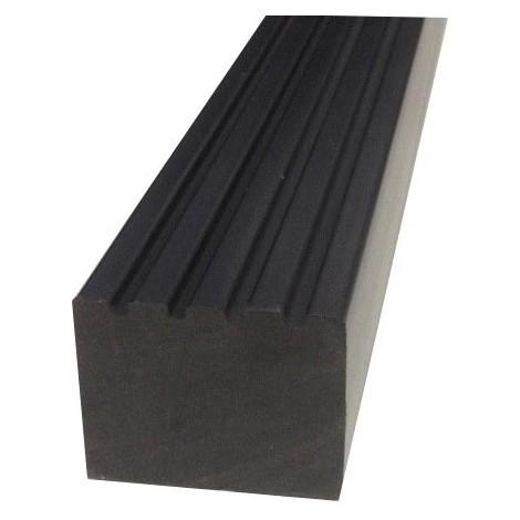 Lambourde en composite plein haute densité - Coloris - Noir, Epaisseur - 4cm, Largeur - 5 cm, Longueur - 366 cm