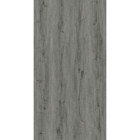 Lame 18x122 vinyle rigide à clipser 5.5 mm avec sous-couche intégrée 2,196m2 par boite effet bois gris ou naturel