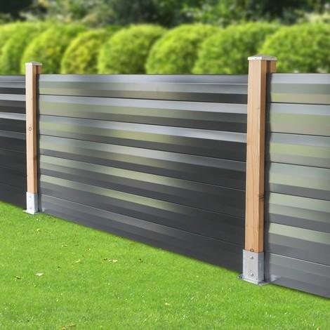 Lame acier Gris 7016 pour clôture 1760 mm FAREL®