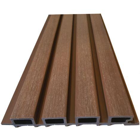 Lame bardage EXTRA PROTECT façon claire-voie, composite co-extrudée coloris Bois cérusé