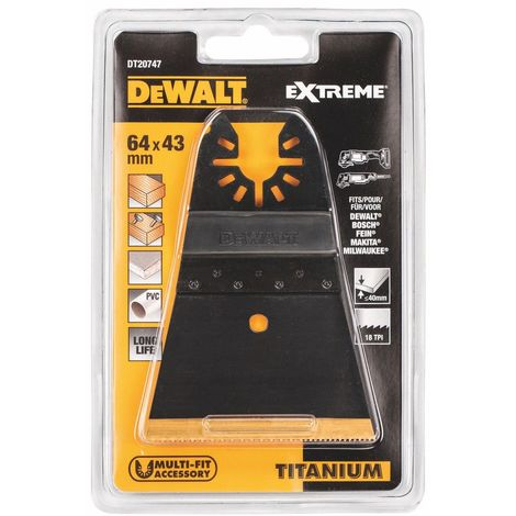 DeWalt DT20701-QZ multi outil bois et clous Lame 43 x 30 mm