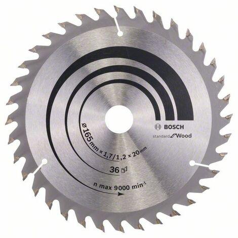 Lame bois coupe fine et nette BOSCH Scie circulaire 165 mm 36 dents