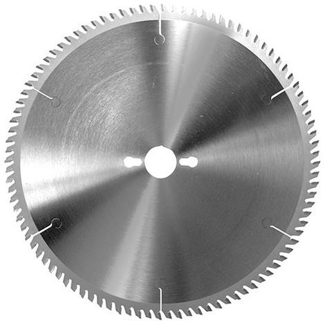 Lame carbure de scie circulaire à format D. 300 x Al. 30 mm. x 72 dents tp à bois stratifiés - 336TF.300.72 - Leman