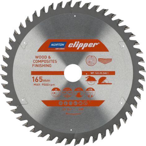 Lame carbure Finition 165x2.6/1.6x20 Z48 NORTON CLIPPER - 70184608090 - -