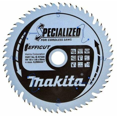 Lame carbure Multi-bois Efficut 165x20 mm 56 Dents MAKITA - B-57320