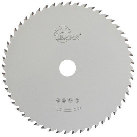 Lame carbure multi-materiaux D. 190 mm. x ép dents 2,0 - 1,4 x Al. 30 mm. 55 dents - 923.190.3055 - Leman - -