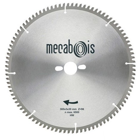 Lame carbure NE3 D. 260 x 3 x 30 mm Z 80 TP Nég. - Alu/Zinc/Cuivre/Nickel/Plastique - 290207 - Sidamo - -
