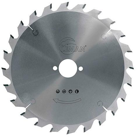 Lame carbure pour portative D. 160 x Al. 16 mm. x 24 dents alt. pour bois - 964.160.1624 - Leman
